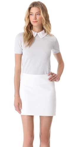Moschino Silver Polo Top at Shopbop.com