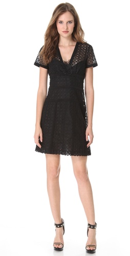 Moschino Embroidered Dress with Floral Accents at Shopbop.com