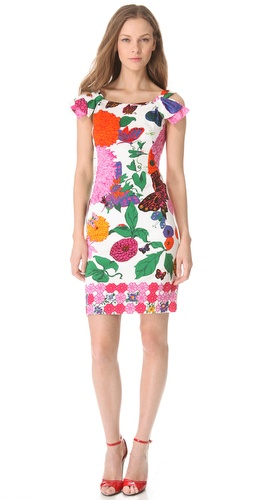 Moschino Floral Sheath Dress with Bow Straps at Shopbop.com