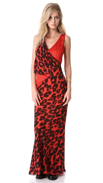 Moschino Cheap And Chic Gown - Red/Black at Shopbop / East Dane