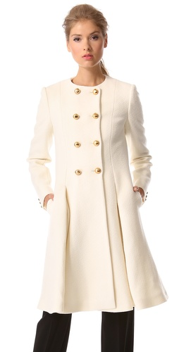 Moschino Pleated Wool Coat
