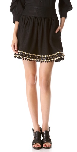 Moschino Embellished Skirt at Shopbop / East Dane
