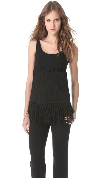 Moschino Sleeveless Flapper Top - Black at Shopbop