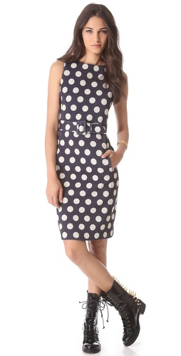 Moschino Sleeveless Polka Dot Dress