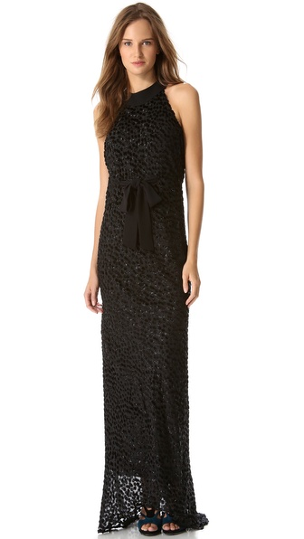 Moschino Sleeveless Devore Gown
