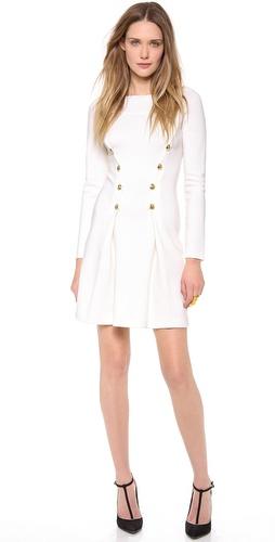 Moschino Gold Button Dress