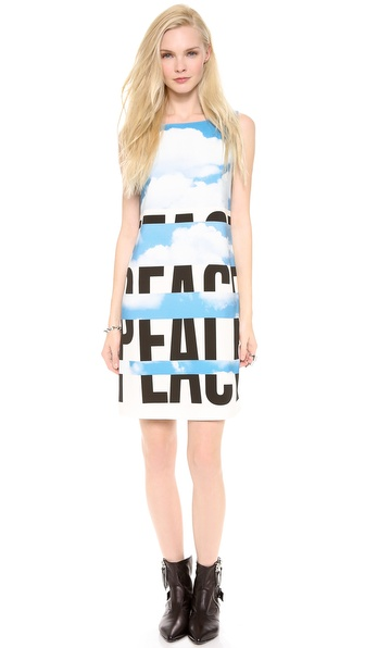 Moschino Cheap And Chic Sleeveless Peace Dress - Black at Shopbop / East Dane