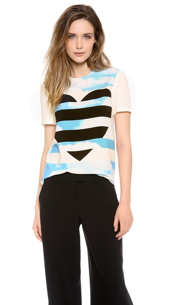 Moschino Cheap And Chic Short Sleeve Top - Multi at Shopbop / East Dane