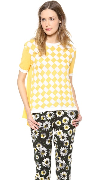 Moschino Cheap And Chic Short Sleeve Sweater - Yellow at Shopbop / East Dane