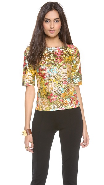 Moschino Metallic Top - Multi at Shopbop