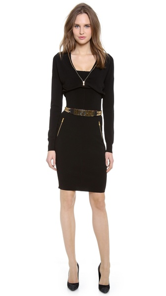 Moschino 3/4 Sleeve Dress - Black at Shopbop