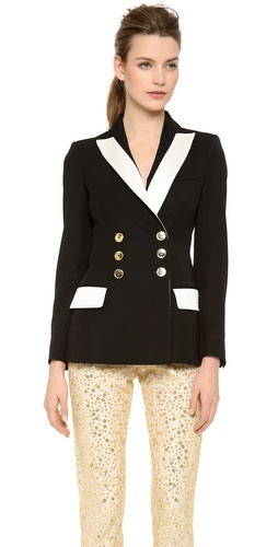 Moschino Blazer with Gold Buttons at Shopbop / East Dane