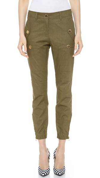 Moschino Cargo Pants - Military Green at Shopbop