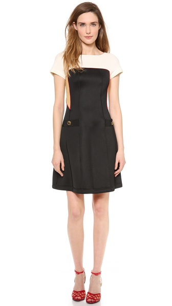 Moschino Short Sleeve Dress - Black at Shopbop