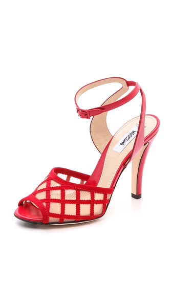 Moschino Mesh Vamp Sandals