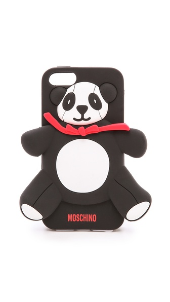 Moschino Panda Bear Iphone 5 Case - Black/White at Shopbop / East Dane