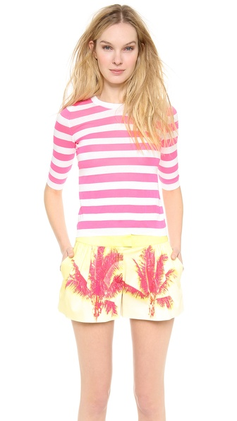 Moschino Cheap And Chic Short Sleeve Striped Top - Pink/White at Shopbop / East Dane