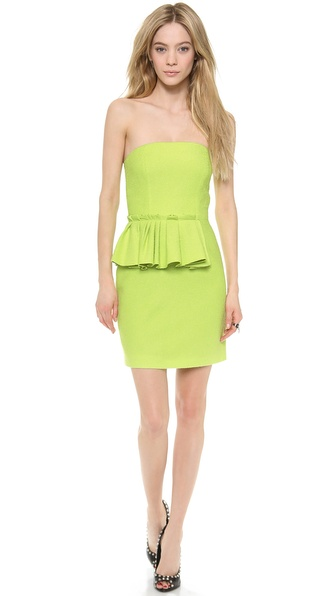 Moschino Cheap And Chic Strapless Dress - Green at Shopbop / East Dane