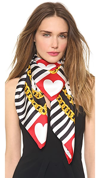 Moschino Heart and Chain Scarf