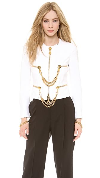 Moschino Zip Front Chain Jacket