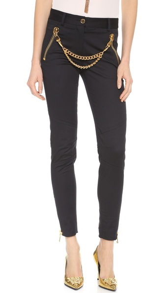 Moschino Chain Front Pants - Black at Shopbop / East Dane