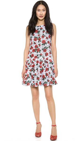 Moschino Organza Flower Drop Waist Dress - Multi at Shopbop / East Dane