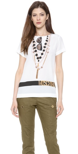 Moschino Trompe l'Oeil Tee at Shopbop / East Dane