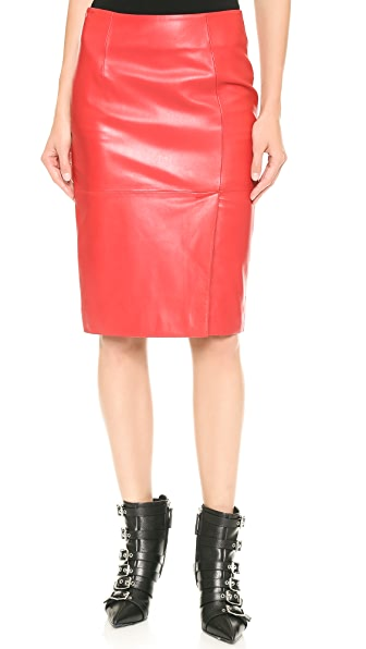 Moschino Cheap and Chic Leather Skirt