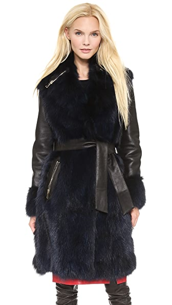 Moschino Cheap and Chic Fur Coat