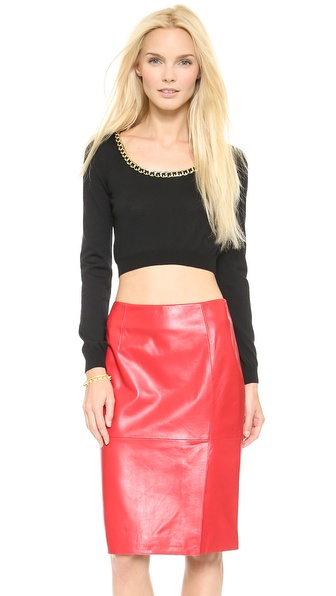Moschino Cropped Sweater