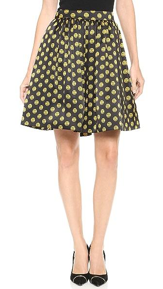 Moschino Printed Satin Skirt