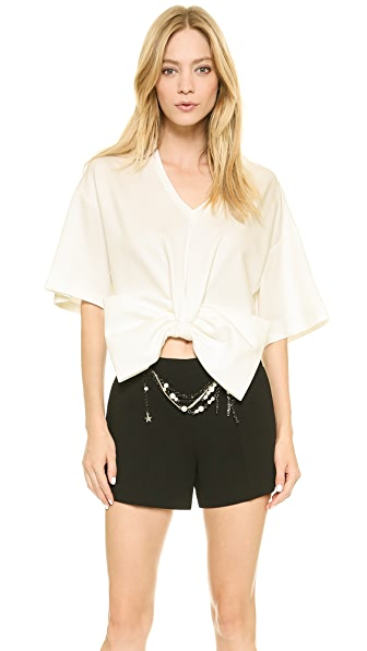 Moschino Jersey Bow Cropped Tee