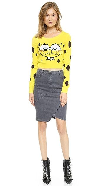 Moschino Spongebob 裁短设计上衣