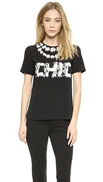 Moschino Moschino Cheap And Chic Tee (Black)