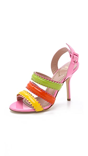 Moschino Moschino Cheap And Chic Pinked Sandals (Multicolor)