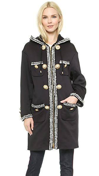 Moschino Moschino Embroidered Coat (Black)