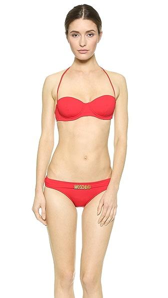 Moschino Moschino Halter Bikini (Red)