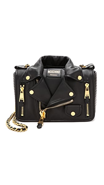 Moschino Moschino Moto Jacket Shoulder Bag (Black)