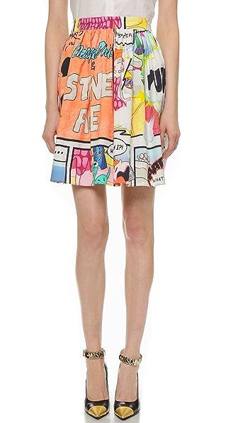 Moschino Cheap And Chic Printed Skirt - Multi
