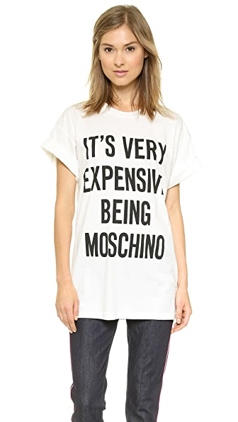 Moschino Moschino Cotton Jersey T-Shirt With Slogan