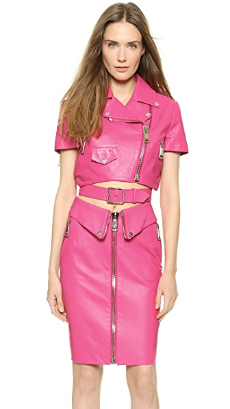 Moschino Moschino Cropped Leather Jacket (Yet To Be Reviewed)