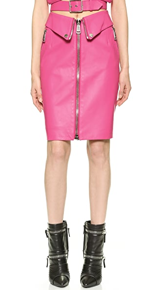 Moschino Moschino Leather Skirt