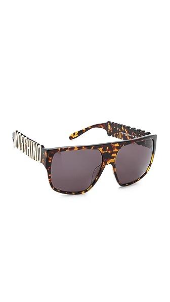 Moschino Moschino Flat Top Sunglasses (Brown)