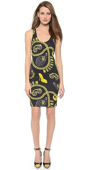 Moschino Sleeveless Dress - Black Multi