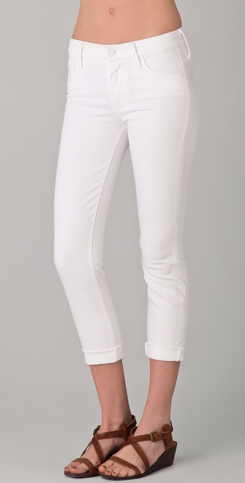 MOTHER High Waist Looker Cropped Jeans