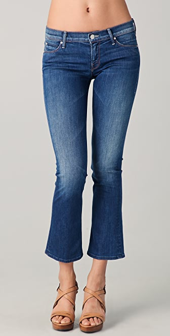 MOTHER Cropped Runaway Skinny Flare Jeans