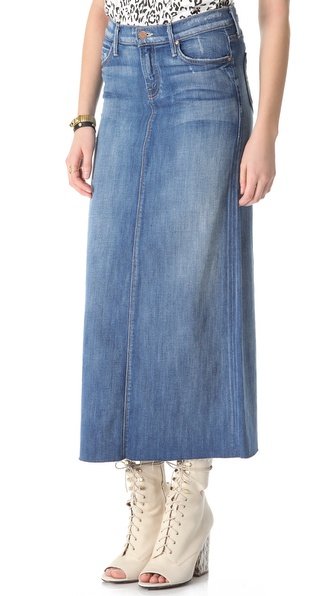 MOTHER Straight A Maxi Skirt