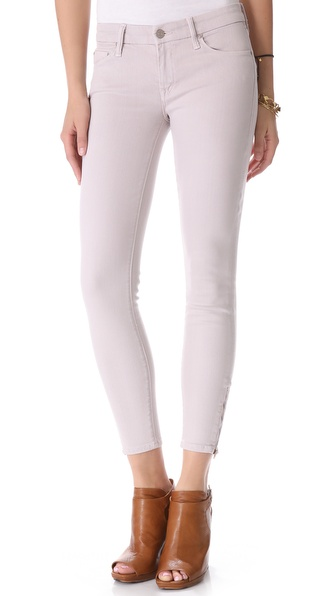 MOTHER The POP! Looker Zip Skinny Jeans