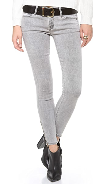 MOTHER The Looker Ankle Zip Jeans