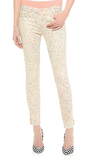 MOTHER The Vamp Skinny Ankle Slit Jeans